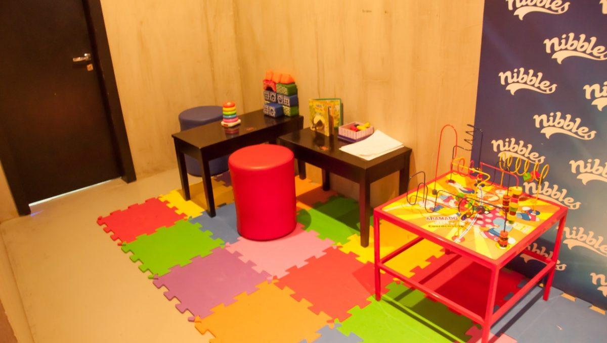Nibbles Food & Fun área de crianças